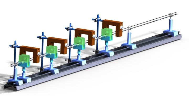 Praktikumsaufbau einer Gaußkanone